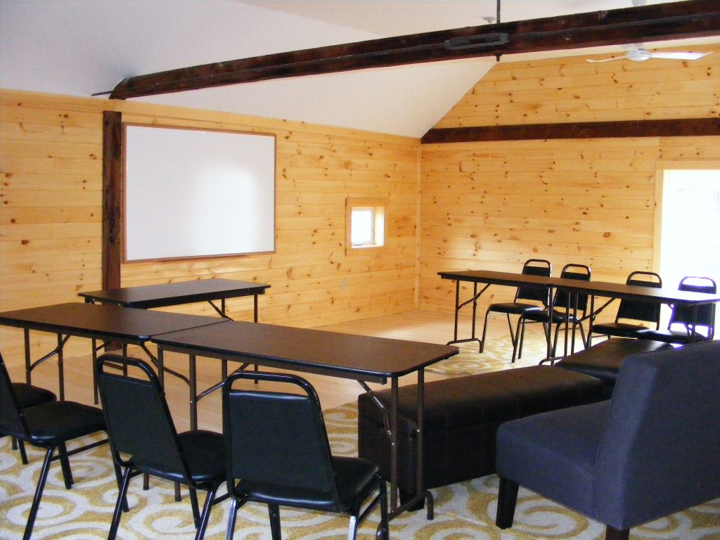 Classroom on the Birthwise Midwifery School Campus Carriage House