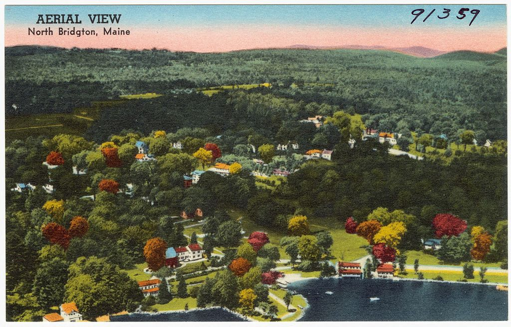 Bridgton Maine aerial view wikimedia commons