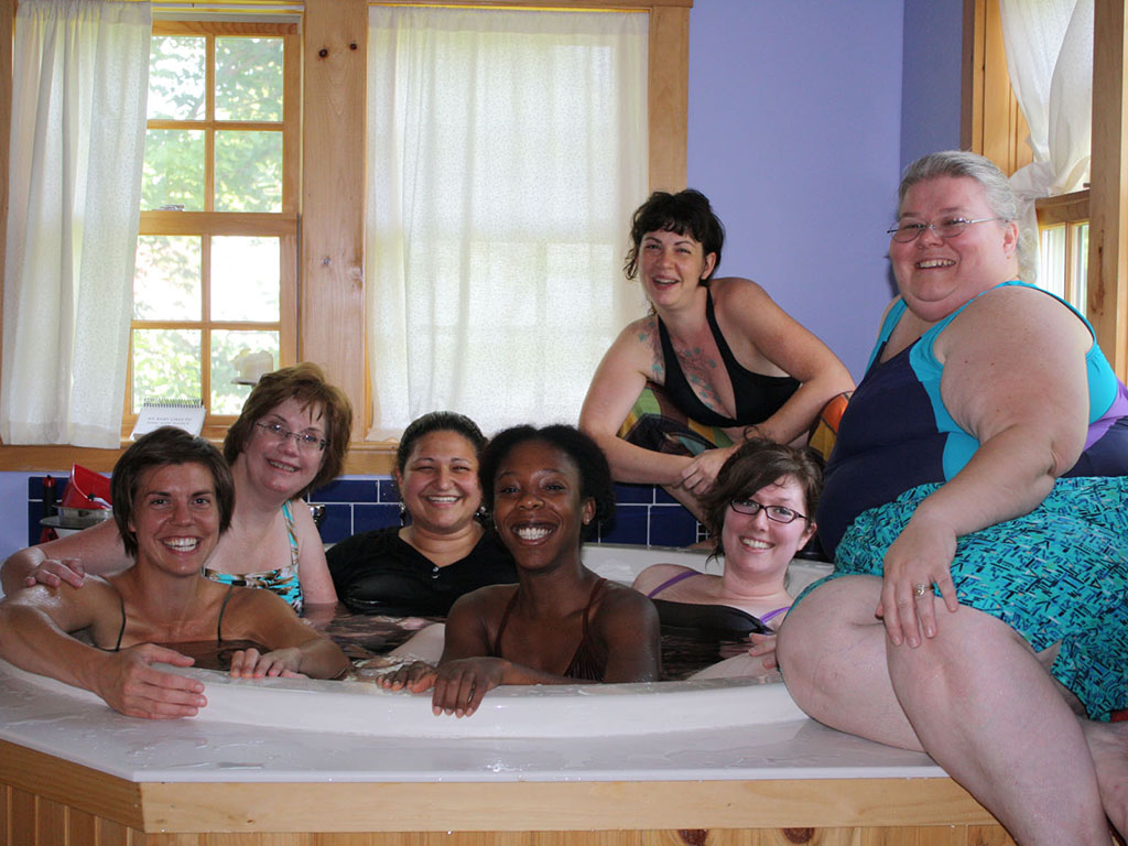 2010 midwife training waterbirth class
